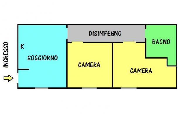 CSGL197C – Appartamento Via Frassinago ad ze Via Foscolo